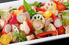 ●4月の姫蛍は「帆立貝と春野菜のマリネ」が登場●