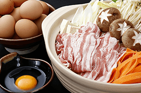 ●3月の姫蛍は、平日夜限定で「豚すき鍋」が登場!●