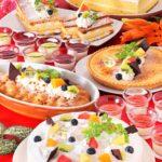 自然食ブッフェ 1月フェアのご案内はこちらです♪「厚切りポークステーキ」「牡蠣フライ」「明太子料理」&「チーズとカスタードのスイーツ」が登場!平日夜は「寒鰤ぶりのお刺身」もご堪能頂けます♪